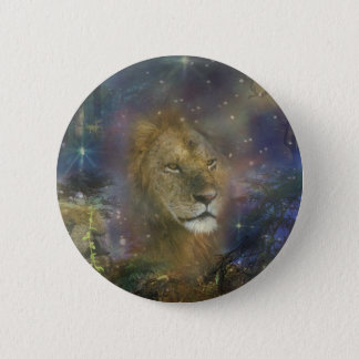 Lion King of Jungle Beasts Pinback Button