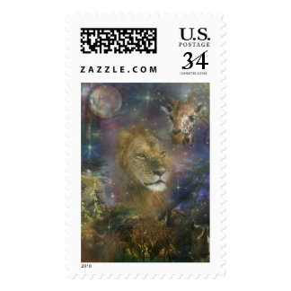 Lion King of Jungle Beasts Postage