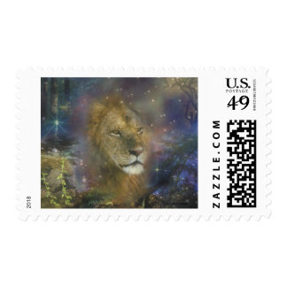 Lion King of Jungle Beasts Postage Stamp