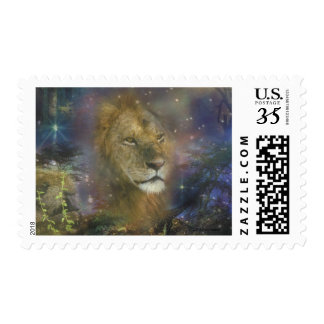 Lion King of Jungle Beasts Postage Stamps