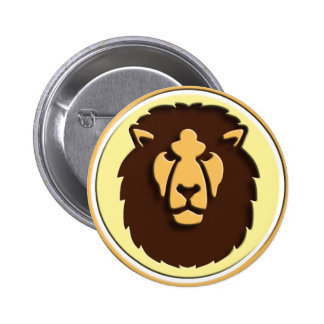 Lion King OF the animals zodiac Pinback Button