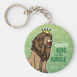 Lion King of the Jungle, Add Child's Name Keychain