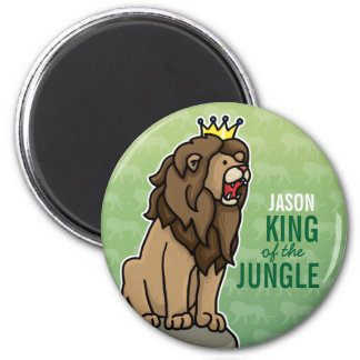 Lion King of the Jungle, Add Child's Name Magnet
