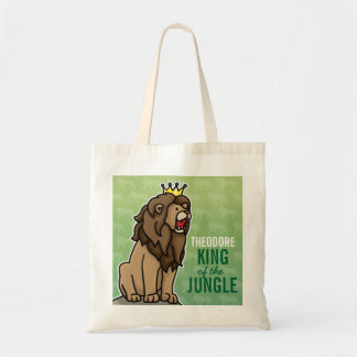 Lion King of the Jungle, Add Child's Name Tote Bag
