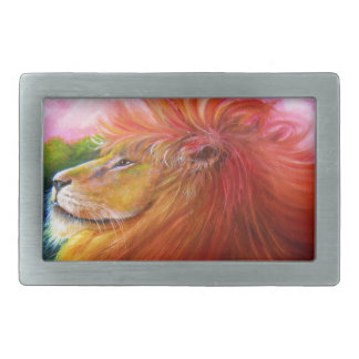 Lion King of the Jungle Belt Buckles