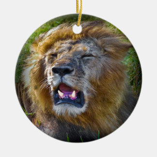 Lion King Of The Jungle Ceramic Ornament