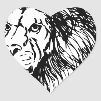 lion - king of the jungle heart sticker