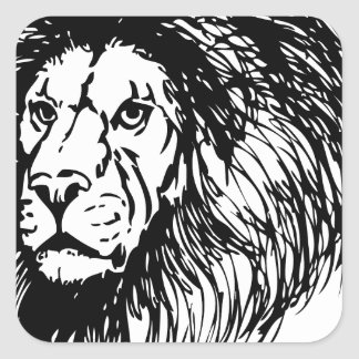 lion - king of the jungle square sticker