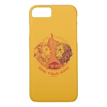 "Lion King   ""One True King"" Simba & Scar Sketch iPhone 8/7 Case"