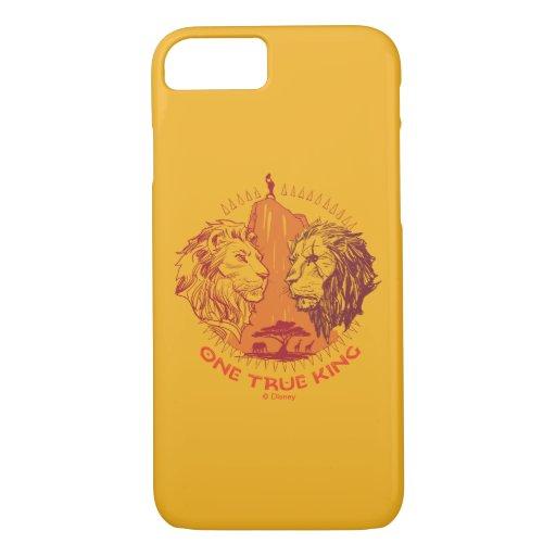 "Lion King | ""One True King"" Simba & Scar Sketch iPhone 8/7 Case"