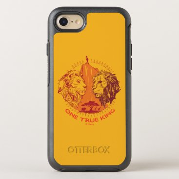 """Lion King   """"One True King"""" Simba & Scar Sketch OtterBox Symmetry iPhone 8/7 Case"""