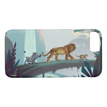 Lion King   Pumbaa, Simba, & Timon Crossing Log iPhone 8/7 Case