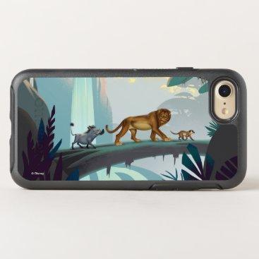 Lion King   Pumbaa, Simba, & Timon Crossing Log OtterBox Symmetry iPhone 8/7 Case