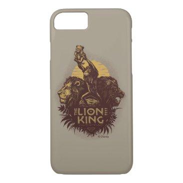 Lion King   Rafiki Presenting Simba Woodcut Design iPhone 8/7 Case
