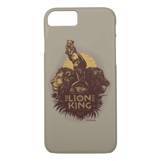 Lion King | Rafiki Presenting Simba Woodcut Design iPhone 8/7 Case
