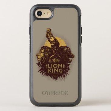 Lion King   Rafiki Presenting Simba Woodcut Design OtterBox Symmetry iPhone 8/7 Case