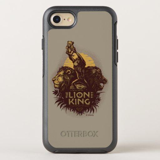 Lion King | Rafiki Presenting Simba Woodcut Design OtterBox Symmetry iPhone 8/7 Case