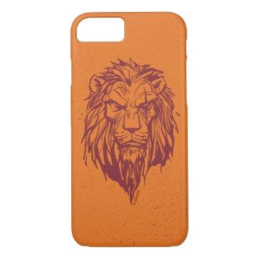 Lion King   Scar Head Sketch iPhone 8/7 Case
