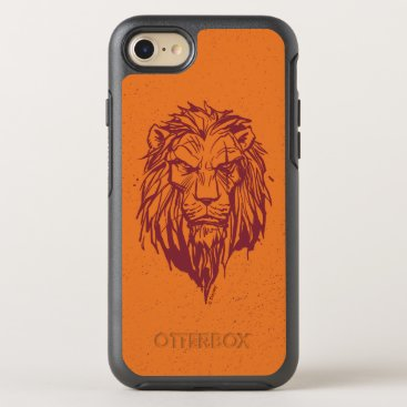 Lion King   Scar Head Sketch OtterBox Symmetry iPhone 8/7 Case
