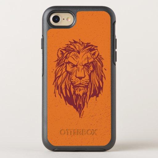 Lion King | Scar Head Sketch OtterBox Symmetry iPhone 8/7 Case