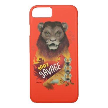 """Lion King   Scar & Hyenas """"100% Savage"""" iPhone 8/7 Case"""