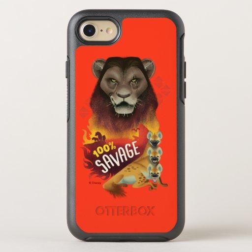 "Lion King | Scar & Hyenas ""100% Savage"" OtterBox Symmetry iPhone 8/7 Case"