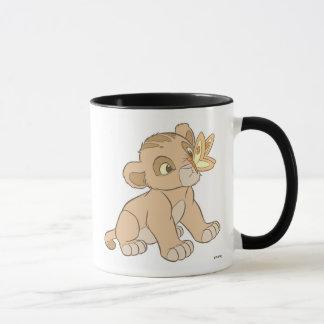 Lion King Simba cub butterfly on nose Disney Mug