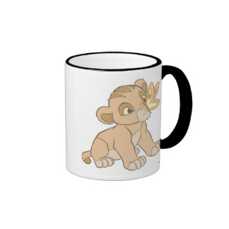 Lion King Simba cub butterfly on nose Disney Mugs