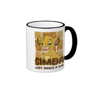 "Lion King Simba cub ""just being a cub"" Disney Ringer Coffee Mug"