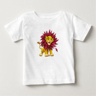 Lion King Simba cub mane of pink red leaves Disney Baby T-Shirt