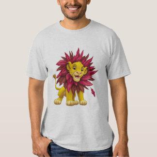 Lion King Simba cub mane of pink red leaves Disney T Shirt