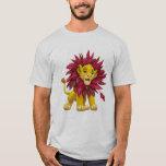Lion King Simba Cub Mane Of Pink Red Leaves Disney T-shirt at Zazzle