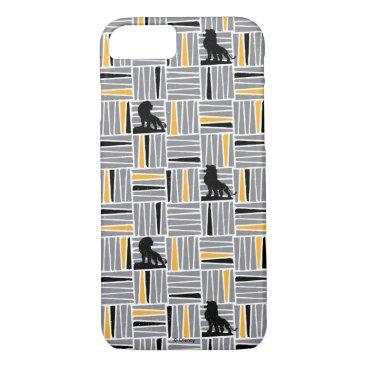 Lion King   Simba Gray & Gold Hatched Pattern iPhone 8/7 Case