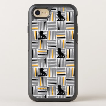 Lion King   Simba Gray & Gold Hatched Pattern OtterBox Symmetry iPhone 8/7 Case