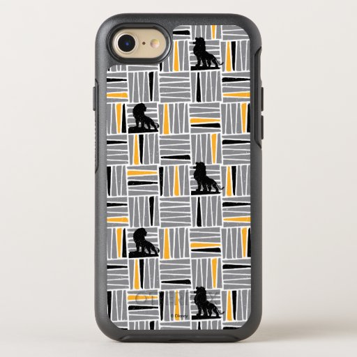 Lion King | Simba Gray & Gold Hatched Pattern OtterBox Symmetry iPhone 8/7 Case