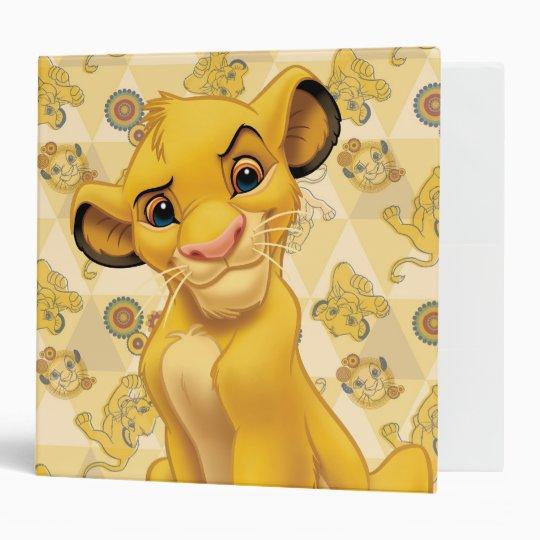 Lion King | Simba on Triangle Pattern 3 Ring Binder