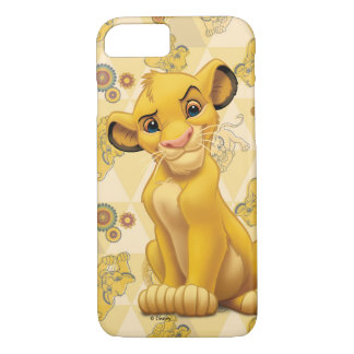 Lion King | Simba on Triangle Pattern iPhone 7 Case