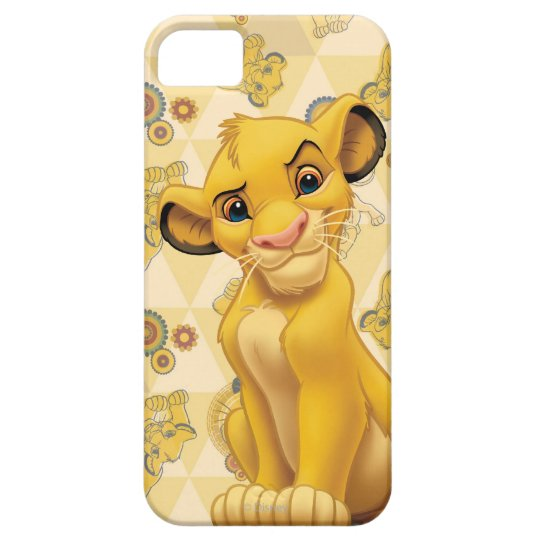 Lion King | Simba on Triangle Pattern iPhone SE/5/5s Case