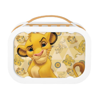 Lion King | Simba on Triangle Pattern Lunch Box