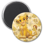 Lion King   Simba on Triangle Pattern Magnet
