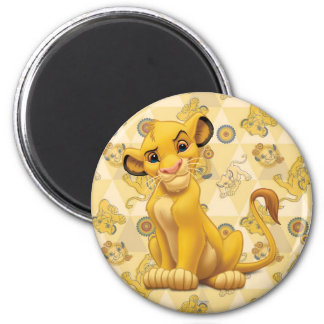 Lion King | Simba on Triangle Pattern Magnet