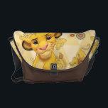 "Lion King | Simba on Triangle Pattern Messenger Bag<br><div class=""desc"">Lion King: Simba</div>"