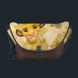 "Lion King | Simba on Triangle Pattern Messenger Bag<br><div class=""desc"">Lion King: Simba</div>"