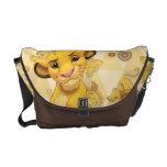 Lion King | Simba on Triangle Pattern Messenger Bag