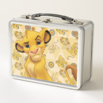 Lion King | Simba on Triangle Pattern Metal Lunch Box