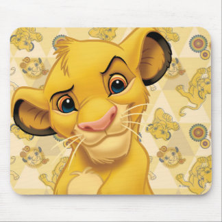Lion King | Simba on Triangle Pattern Mouse Pad
