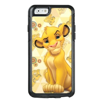 Lion King | Simba On Triangle Pattern Otterbox Iphone 6/6s Case by disney at Zazzle