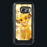 "Lion King | Simba on Triangle Pattern OtterBox Samsung Galaxy S7 Case<br><div class=""desc"">Lion King: Simba</div>"