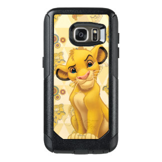Lion King | Simba on Triangle Pattern OtterBox Samsung Galaxy S7 Case