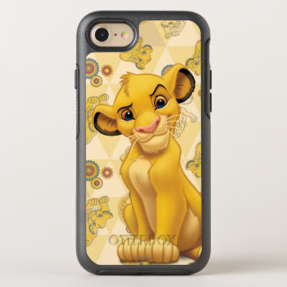 Lion King | Simba on Triangle Pattern OtterBox Symmetry iPhone 8/7 Case